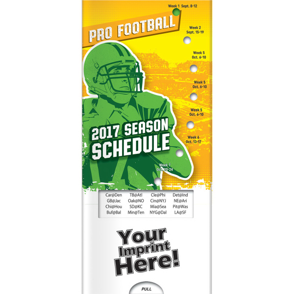 Pocket Slider (TM) - Pro Football 2016 Season Schedule