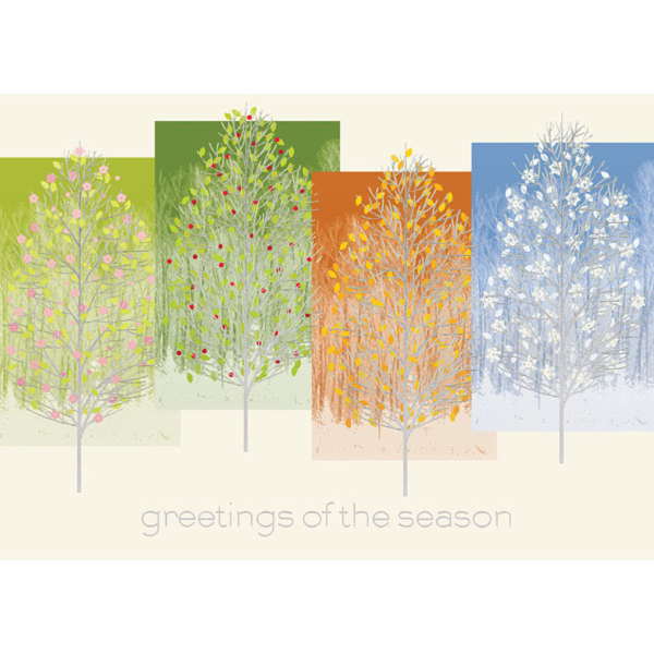 Trees of the Season Greeting Card