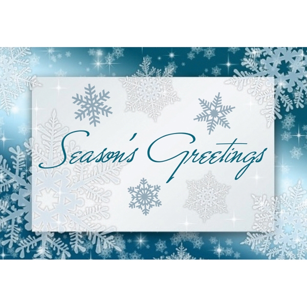 Snowflake Greeting greeting card