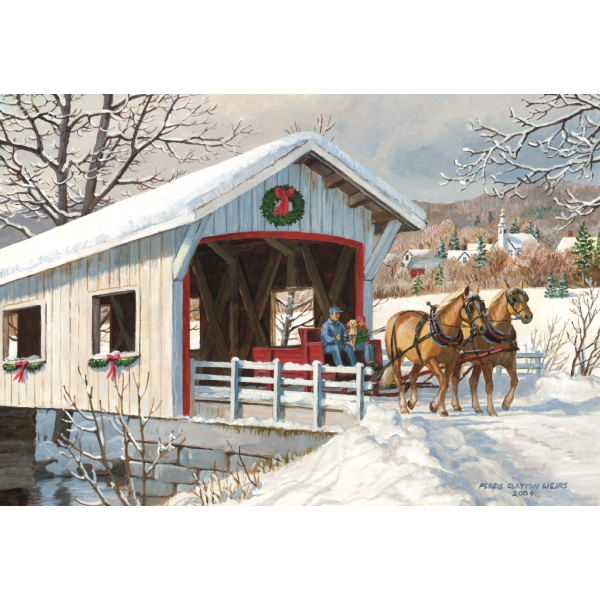 Holiday Ride greeting card
