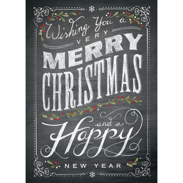 Chalkboard Christmas Greeting Card