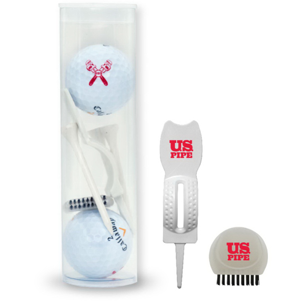 2-Ball Tee with D Brush & White Tool Tube