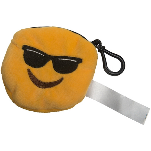 Emoji Plush Pouch Mr Cool Keychain