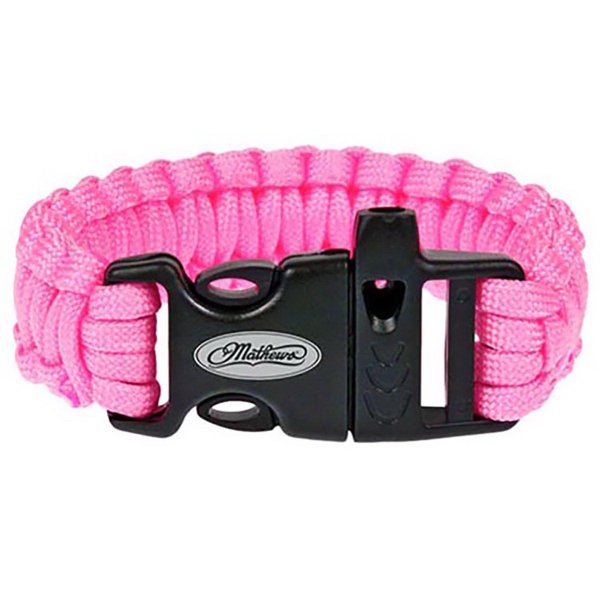Pink Paracord Bracelet with Whistle