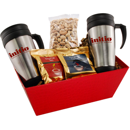 Tray with Mugs and Cashews
