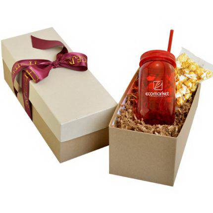 Mason Jar 21oz in Gift Box with Starlight Mints