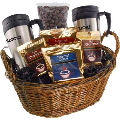 Premium Mug Gift Basket with Chocolate Covered Raisins