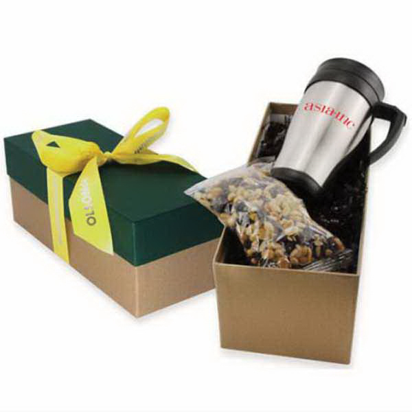 Gift Box with Mug and Chocolate Covered Raisins
