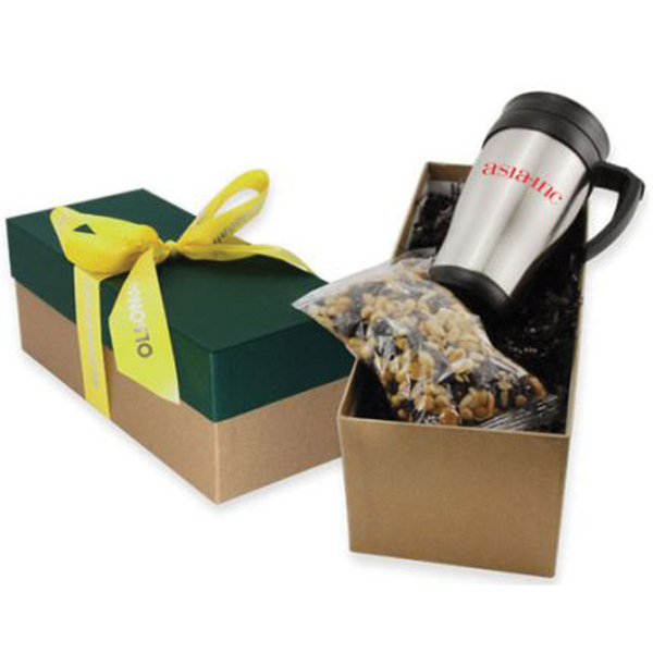 Gift Box with Mug and Caramel Popcorn