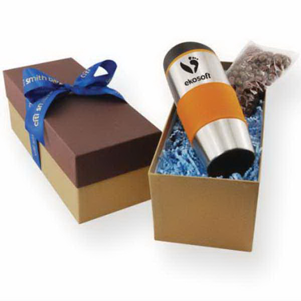 Gift Box with Tumbler and Chocolate Covered Almonds