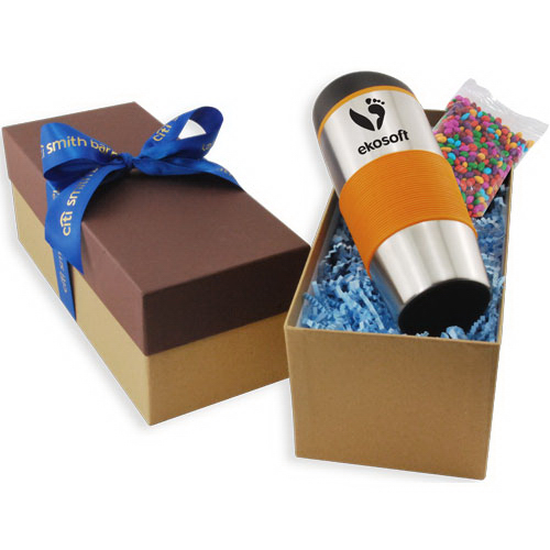 Gift Box with Tumbler and Chocolate Covered Sunflower Seeds