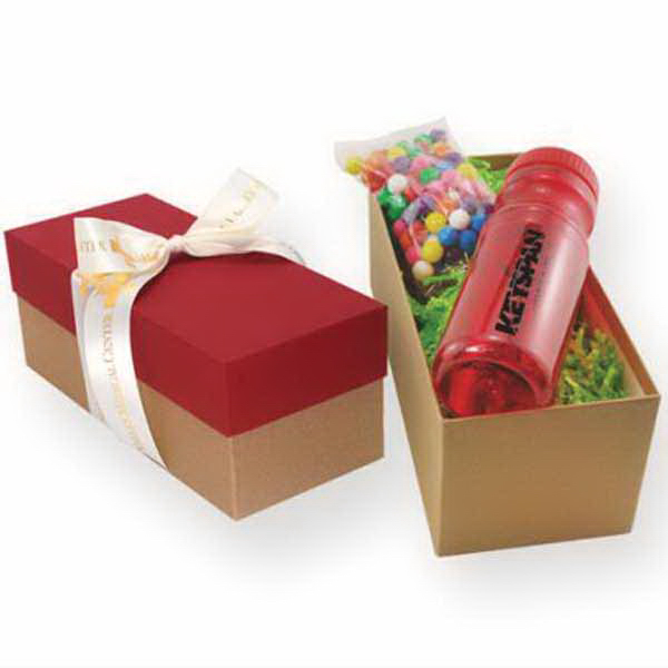 Gift Box with Bottle and Large Pretzels