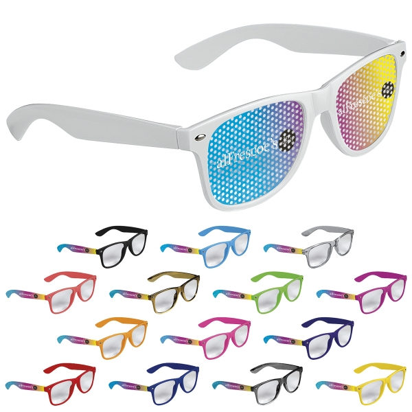 Cool Vibes Clear Lenses Glasses Full Color