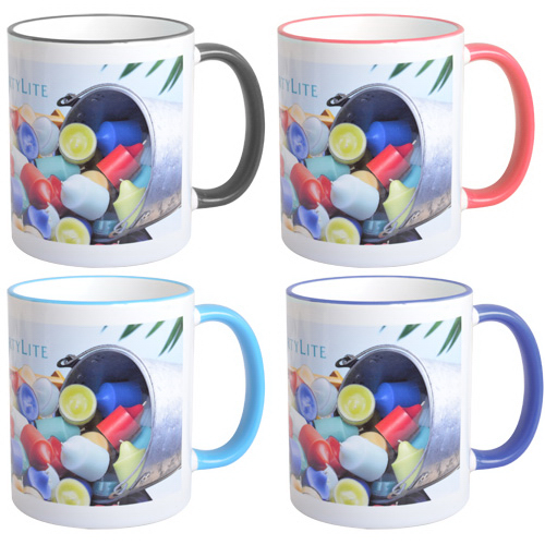 Mug 11oz with Colored Accents - Full Color