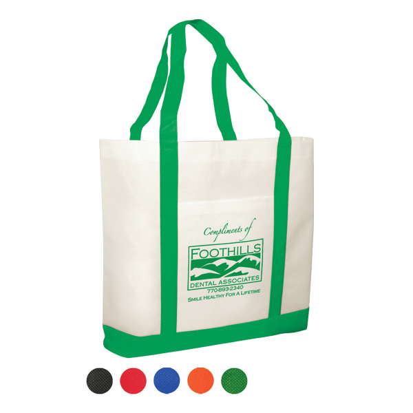 Two-Tone Non-Woven Tote Bag