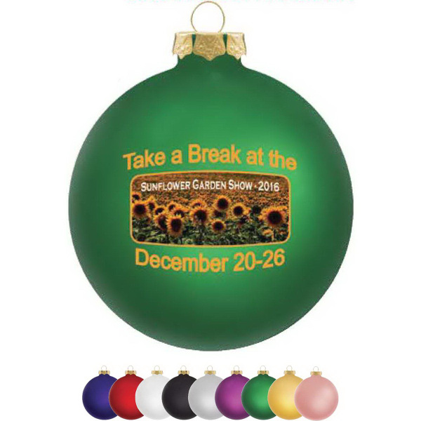 Traditional Glass Ornament (Full Color)