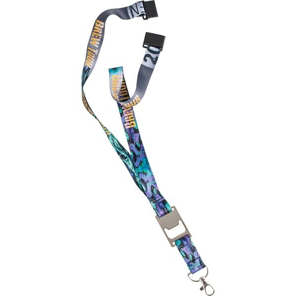 Heavy Weight Satin Bottle Opener Lanyard