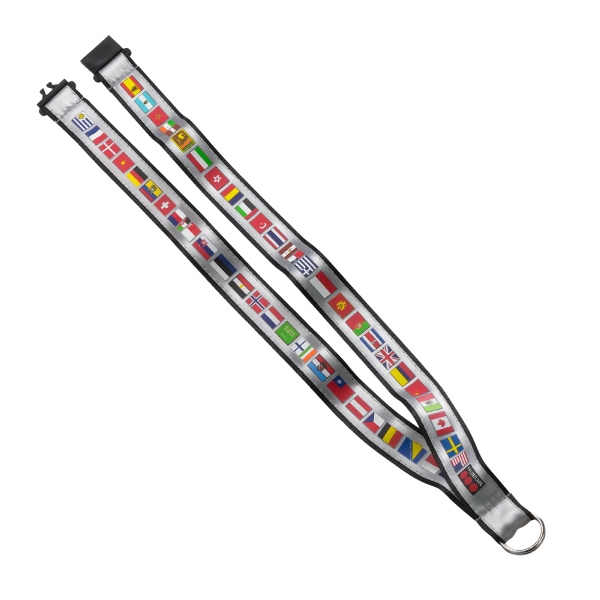 "3/4"" Imported Woven Lanyard w/ Split-Ring w/ Neck Release"