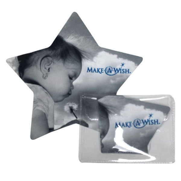 Star shaped microfiber cloth in pouch
