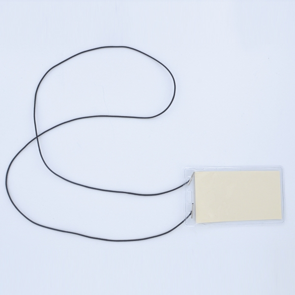 Elastic Cord on Small Vertical Vinyl Pouch