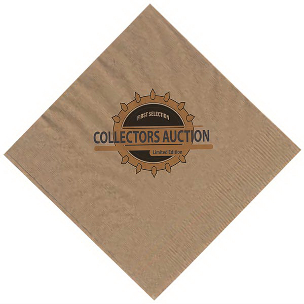 AS1KBN 1-Ply Kraft Beverage Napkin