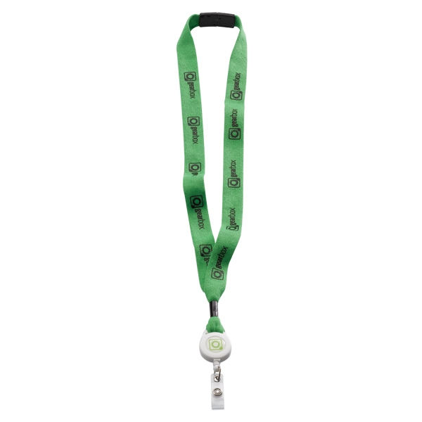 """3/4"""" Cotton Lanyard with Retractable Zip Cord"""