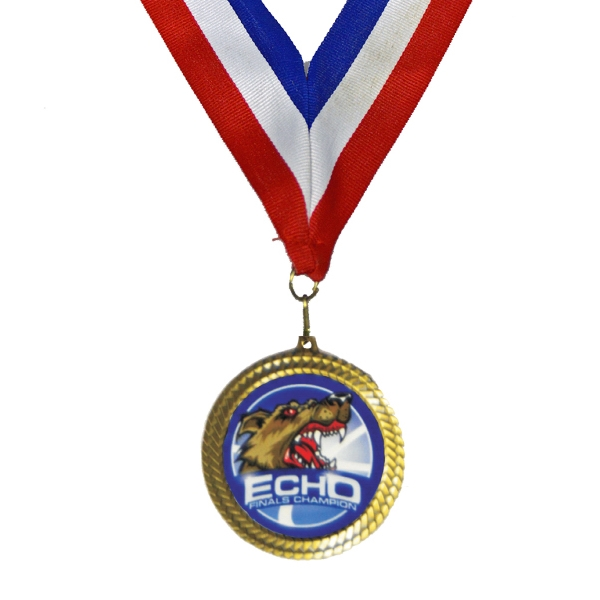 "Full Color Insert Medal w/ 1 1/2"" Stock Neck Ribbon"