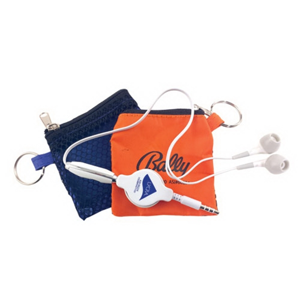 Earbuds in Keychain Pouch