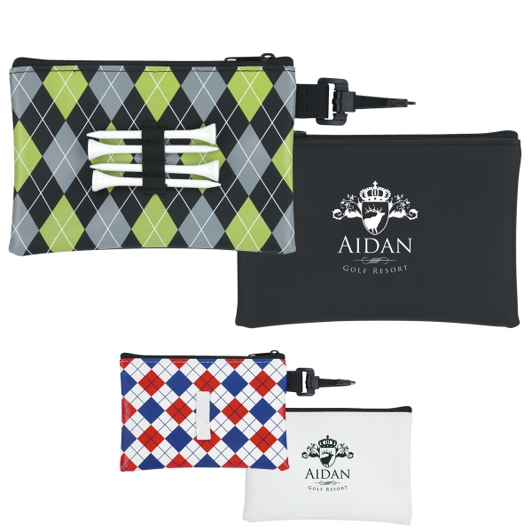Pattern Golf Tee Pouch - Good Value (R)