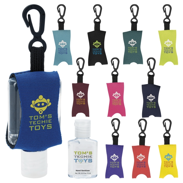 Custom Hand Sanitizer with Leash - .5 oz.