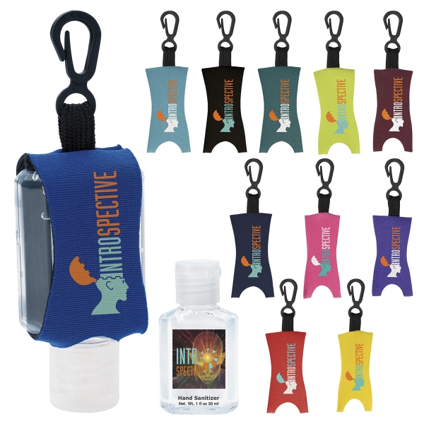 Custom Hand Sanitizer with Leash - 1.0 oz.