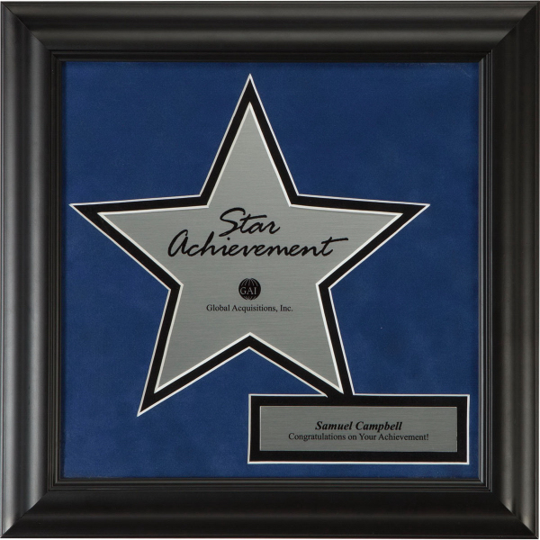 Star 10 Framed Award