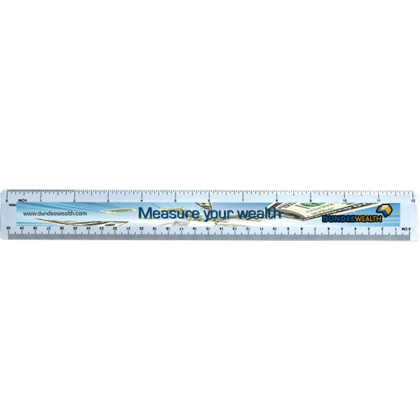 Standard 12Inch Ruler with Four Color Process Imprin
