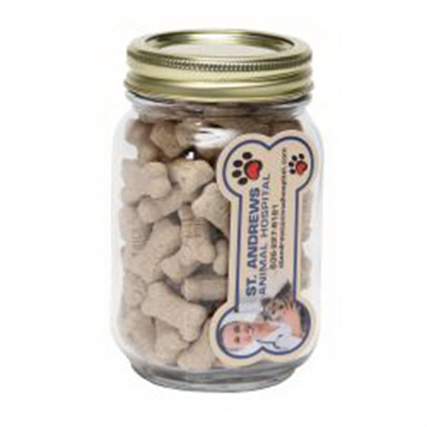 Mini Dog Bones in Pint Jar w/Bone Magnet