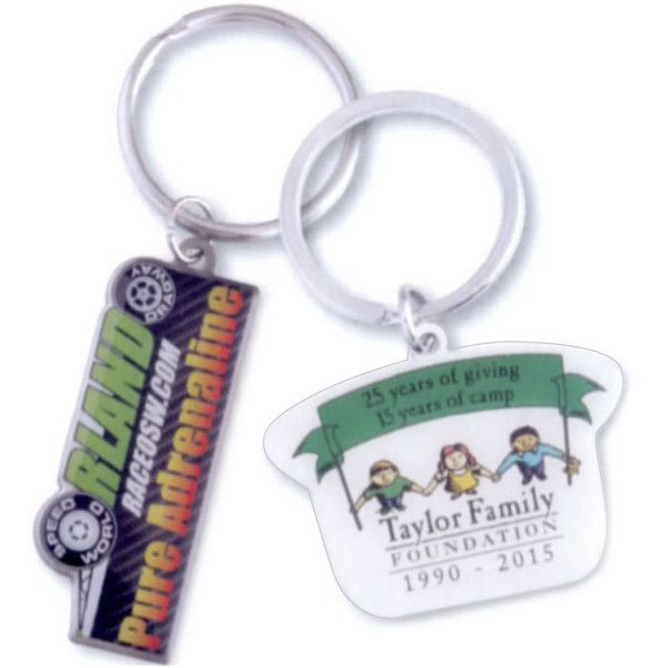Custom Printed Stainless Steel Key Ring