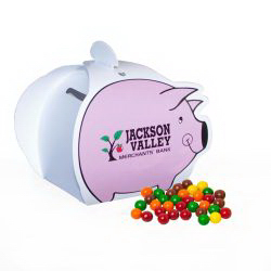 Piggy Paper Bank with Mini Bag of Sixlets