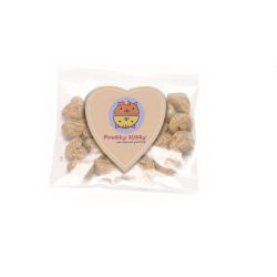 Cat Treats in Bag wtih Heart Magnet