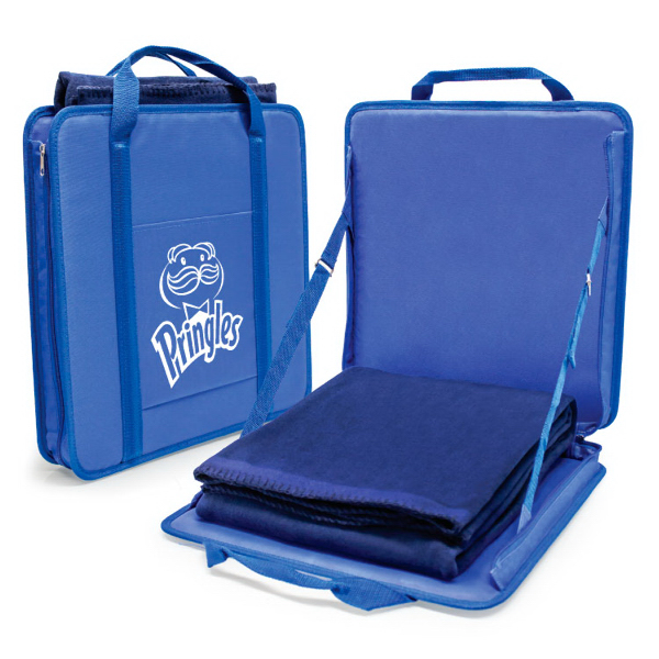 PORTABLE STADIUM SEAT & BLANKET SET