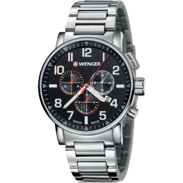 Attitude Chrono Watch with Stainless Steel Bracelet