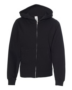 Independent Trading Co. Youth Midweight Hooded Full-Zip