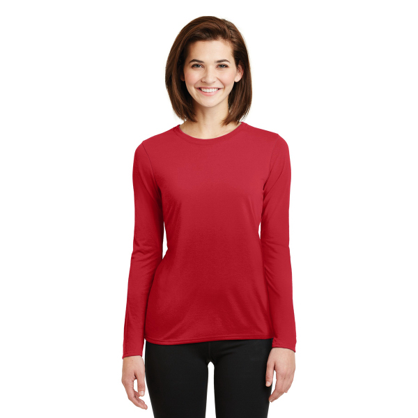 Ladies Gildan Performance Long Sleeve T-Shirt