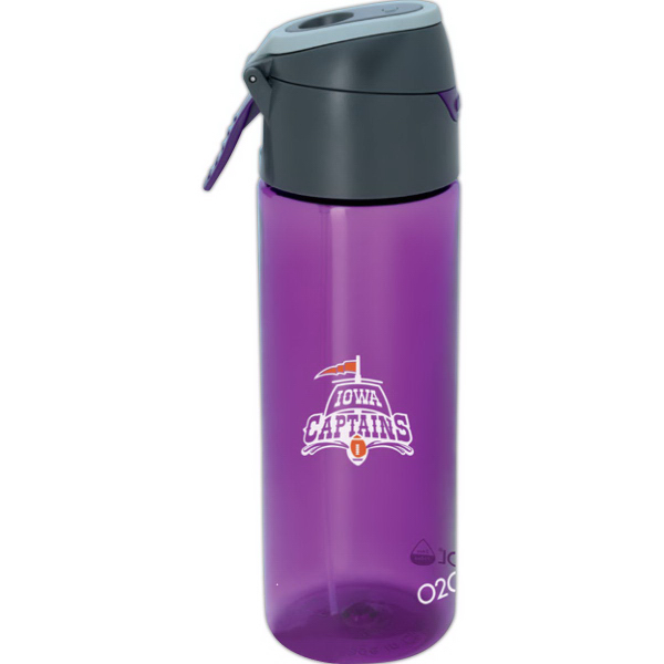 O2COOL (R) Prism Pop up Top Mist 'N Sip (R) Sports Bottle