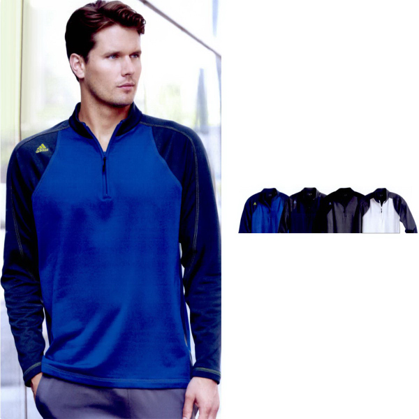 Adidas Golf Climawarm+ Quarter-Zip Colorblocked Training Top
