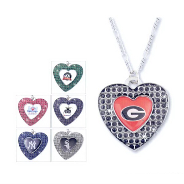 Glitter Stone (TM) Heart Necklace