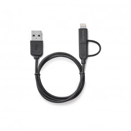 MFI Certified Lighting + Micro USB 2 in 1 Cable