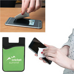 E-Z Import (TM) Smartphone Wallet with Screen Cleaner