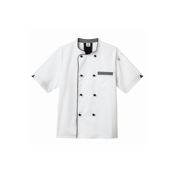 White Swan Five Star Short Sleeve Executive Chef Coat