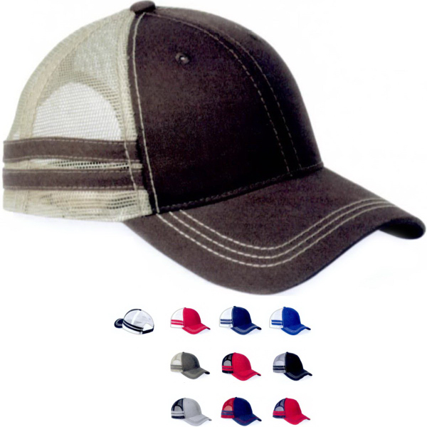 Sportsman Striped Trucker Cap