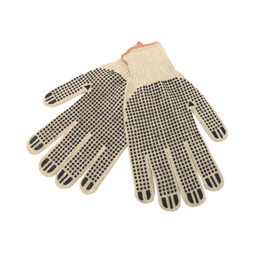 Cotton/Poly Work Gloves W/ Rubber Grip Dots - Blank Goods