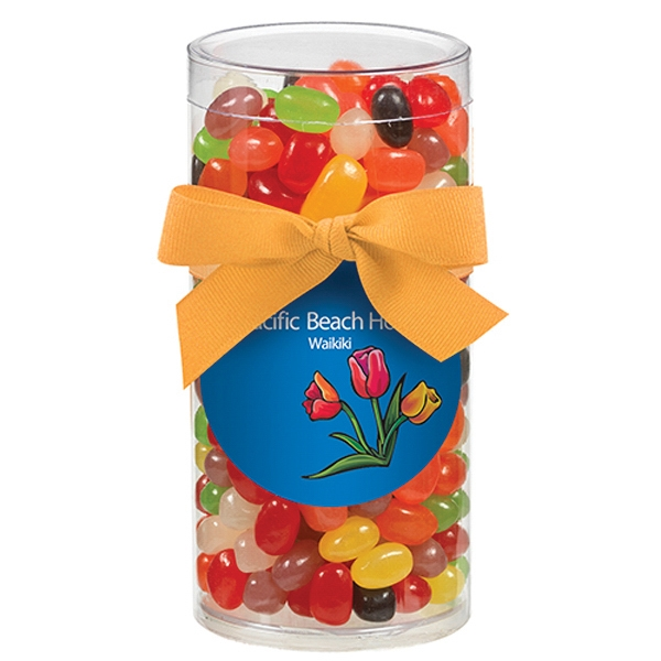 Large Elegant Gift Tube with Assorted Jelly Beans